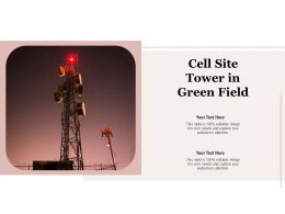Cell Site Tower In Green Field