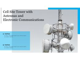 Cell Site Tower With Antennas And Electronic Communications