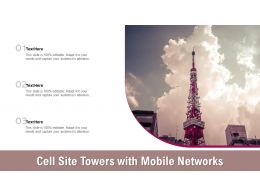 Cell Site Towers With Mobile Networks