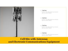 Cell Site With Antennas And Electronic Communications Equipment