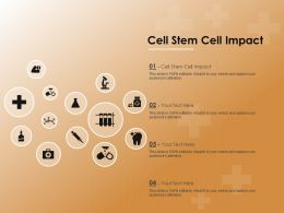 Cell Stem Cell Impact Ppt Powerpoint Presentation Icon Structure