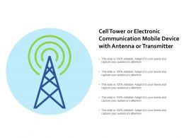 Cell Tower Or Electronic Communication Mobile Device With Antenna Or Transmitter