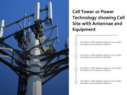 Cell Tower Or Power Technology Showing Cell Site With Antennae And Equipment