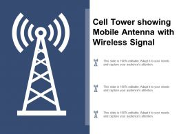 Cell Tower Showing Mobile Antenna With Wireless Signal