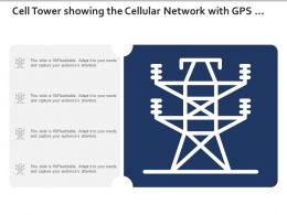 Cell Tower Showing The Cellular Network With Gps Receiver