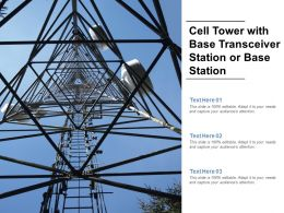 Cell Tower With Base Transceiver Station Or Base Station