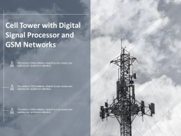 Cell Tower With Digital Signal Processor And Gsm Networks