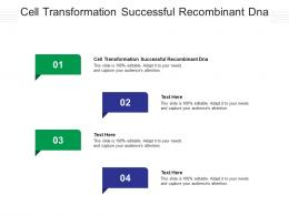 Cell Transformation Successful Recombinant Dna Ppt Powerpoint Presentation Summary Brochure Cpb