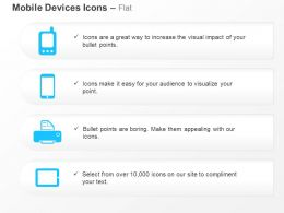Cellphone Mobile Tablet Printer Device Ppt Icons Graphics