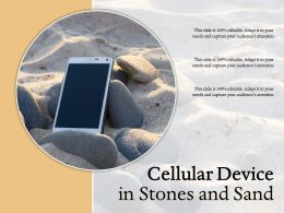 Cellular Device In Stones And Sand