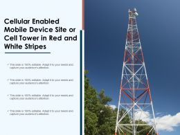 Cellular Enabled Mobile Device Site Or Cell Tower In Red And White Stripes