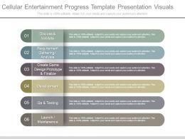 Cellular Entertainment Progress Template Presentation Visuals