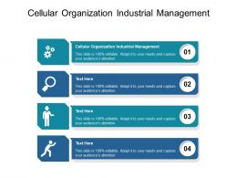 Cellular Organization Industrial Management Ppt Powerpoint Presentation Files Cpb