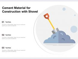 Cement Material For Construction With Shovel