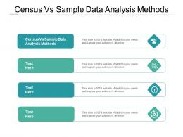 Census Vs Sample Data Analysis Methods Ppt Powerpoint Presentation Icon Themes Cpb