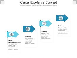 Center Excellence Concept Ppt Powerpoint Presentation Infographics Samples Cpb