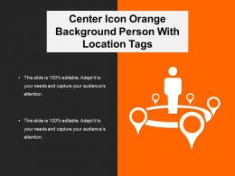 Center Icon Orange Background Person With Location Tags