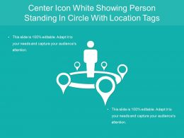 Center Icon White Showing Person Standing In Circle With Location Tags