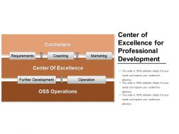 Center Of Excellence For Professional Development Ppt Example
