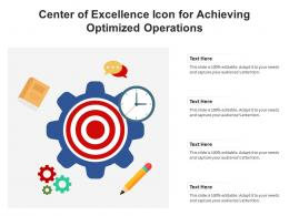Center Of Excellence Icon For Achieving Optimized Operations