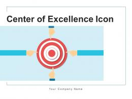 Center Of Excellence Icon Product Quality Organizational Business Technology