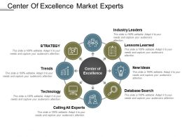 Center Of Excellence Market Experts Ppt Example File