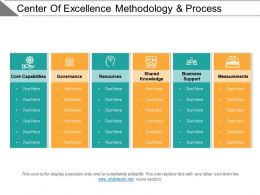Center Of Excellence Methodology And Process Ppt Example File