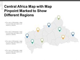 Central Africa Map With Map Pinpoint Marked To Show Different Regions