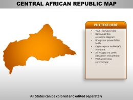Central African Republic Country Powerpoint Maps