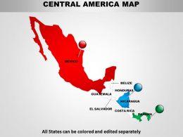 Central America Map Design 1114