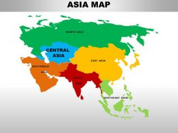 Central Asia Continents PowerPoint maps