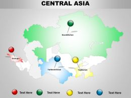 Central Asia Map Design 1114