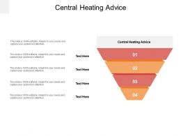 Central Heating Advice Ppt Powerpoint Presentation Infographic Template Professional Cpb