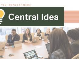Central Idea Business Successful Marketing Strategies Arrows Circle Measure Goals Improvement
