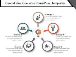Central Idea Concepts PowerPoint Templates