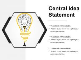 Central Idea Statement Powerpoint Shapes