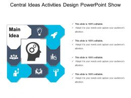 Central Ideas Activities Design Powerpoint Show