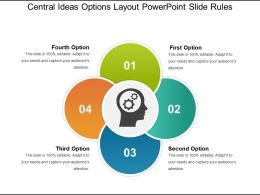 Central Ideas Options Layout PowerPoint Slide Rules