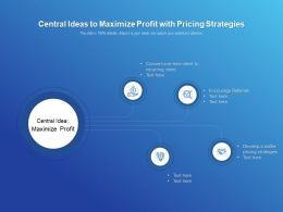 Central Ideas To Maximize Profit With Pricing Strategies