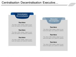 Centralisation Decentralisation Executive Development Personal Selling Marketing Environment Cpb