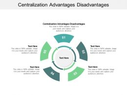 Centralization Advantages Disadvantages Ppt Powerpoint Presentation Pictures Design Cpb