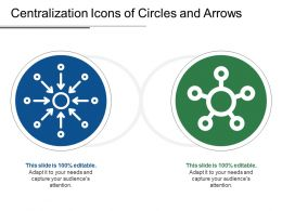 Centralization Icons Of Circles And Arrows