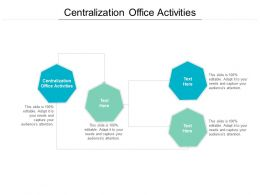 Centralization Office Activities Ppt Powerpoint Presentation Show Topics Cpb