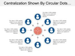 Centralization Shown By Circular Dots And Humans
