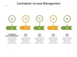 Centralized Access Management Ppt Powerpoint Presentation Layouts Images Cpb