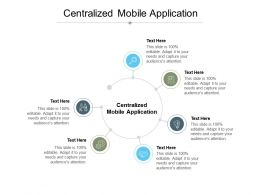 Centralized Mobile Application Ppt Powerpoint Presentation File Summary Cpb