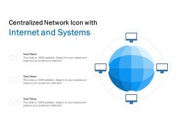 Centralized Network Icon With Internet And Systems