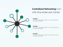 Centralized Network Icon With One Molecular Center