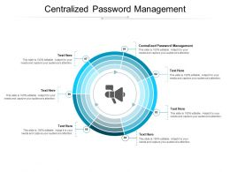 Centralized Password Management Ppt Powerpoint Presentation Outline Design Ideas Cpb