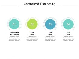 Centralized Purchasing Ppt Powerpoint Presentation Professional Cpb